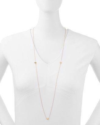 Jennifer Zeuner Jewelry Tyler Triangle Long Necklace with Single Diamond