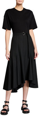 3.1 Phillip Lim Short-Sleeve Asymmetric T-Shirt Dress