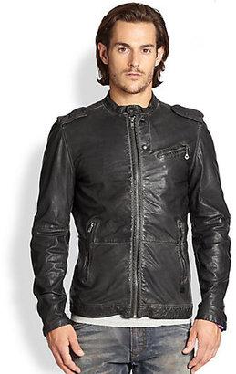 Diesel Leprandis Leather Biker Jacket