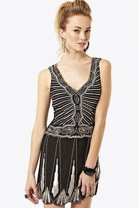 Fashion Union Black 1920's Style Sequin Dress