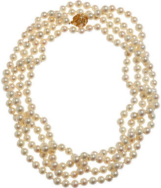 Cathy Waterman Long Pearl Necklace with South Sea Pearl Clasp