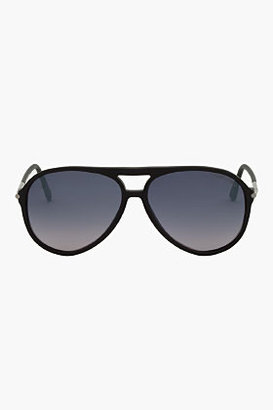 Tom Ford Black Matte Flat Top FT0254 Aviators