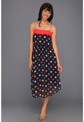 Gabriella Rocha Kasha Polka Dot Chiffon Dress (Black) - Apparel