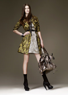 Burberry Ribbon Embroidered Lace Trench Coat