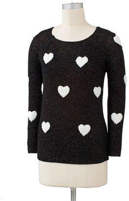 Lauren Conrad lurex heart sweater