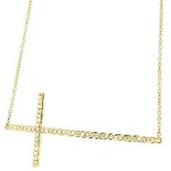 Sydney Evan Fine Diamond Cross Bracelet - Yellow Gold