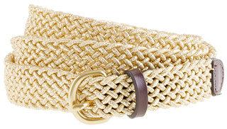 J.Crew Metallic woven belt