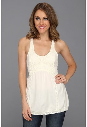 Roper Challes Cami W/Butterfly Lace Applique (White) - Apparel