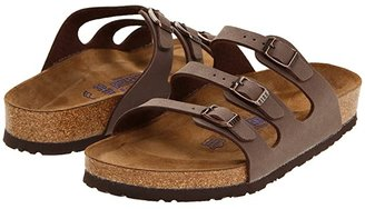 Birkenstock Florida Soft Footbed - Birkibuc (Mocha Birkibuc) Women's Sandals