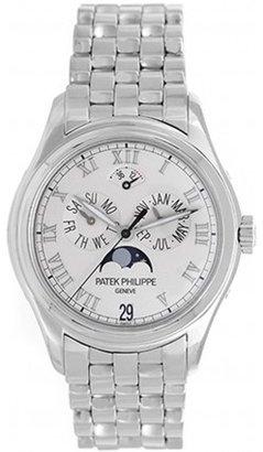 Patek Philippe excellent (EX Annual Calendar Men's 18k White Gold Moonphase Watch 5036G