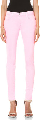 J Brand PINK PARTY EXCLUSIVE Midrise Super Skinny in Pink Party