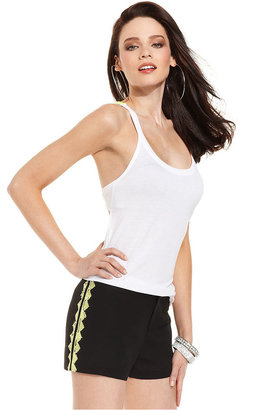GUESS Top, Sleeveless Scoop-Neck Sequined Racerback Tank
