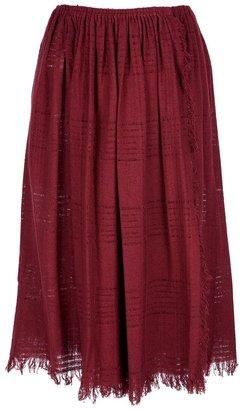 Basile Vintage pleated knit midi skirt