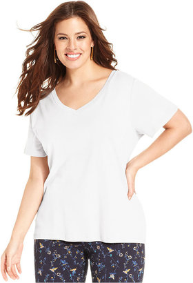 Style&Co. Plus Size Short-Sleeve V-Neck Top