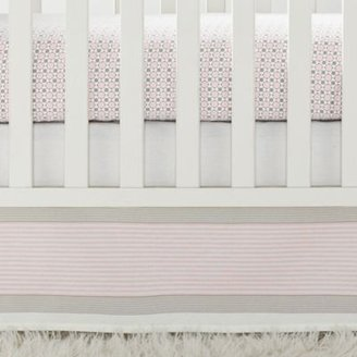 Shell Yacht Stripe Crib Skirt