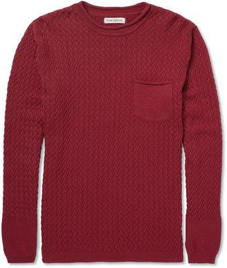 Oliver Spencer Lattice-Knit Cotton Crew Neck Sweater