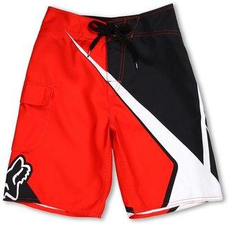 Fox Spike Sym Boardshort (Big Kids) (Flame Red) - Apparel