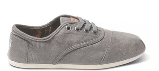 Toms Taupe waxed twill women's cordones