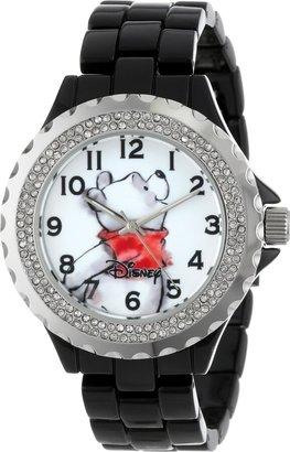 Disney Women's W000995 Winnie Black Enamel Watch
