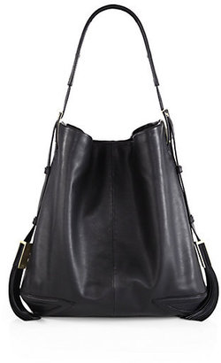 Brian Atwood Goldie Leather Hobo