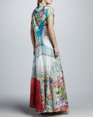 Johnny Was Collection Prudence Silk Printed Maxi Dress