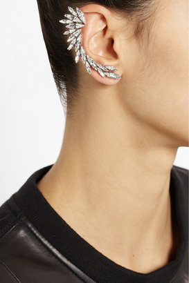 Swarovski Ryan Storer Oxidized silver-plated crystal ear cuff