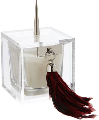 Native Edge Lucite Feather Candle