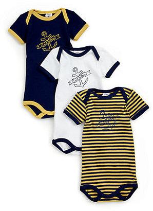 Petit Bateau Infant's Three-Piece Bodysuit Set