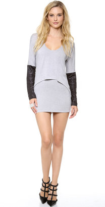 T-Bags Tbags Los Angeles Overlay Sweater Dress