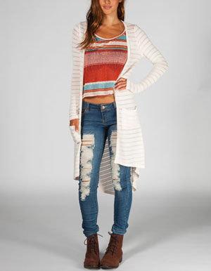 Full Tilt Womens Hachi Knit Long Cardigan