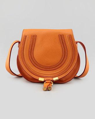 Chloé Marcie Small Crossbody Satchel Bag, Orange