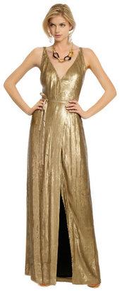 Diane von Furstenberg Clarice Gold Sequin Gown