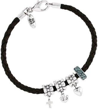 Prerogatives Sterling Faith, Love, Hope Birthstone Bracelet
