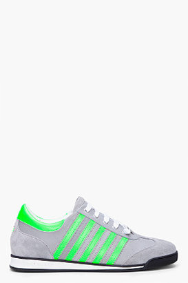 DSquared DSQUARED2 Green Stripe Suede Runners