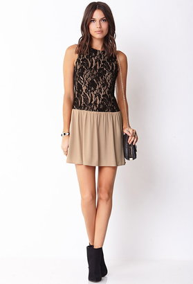 Forever 21 Lovely Lace Drop Waist Dress