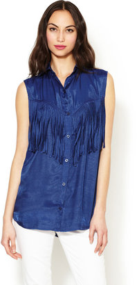 Torn By Ronny Kobo Lolita Fringed Top