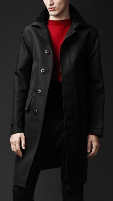 Burberry Concealed Placket Bonded Wool Trench Coat