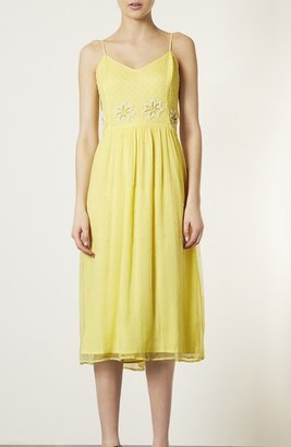 Topshop 'Debutante' Beaded Midi Dress