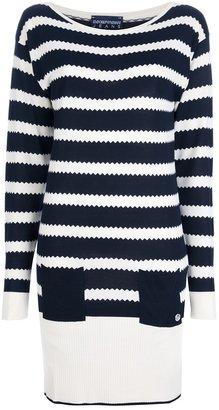 Emporio Armani striped jumper dress