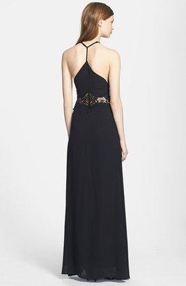 Jarlo Lace Inset Chiffon Maxi Dress