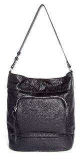 Asos Casual Bucket Bag With Chunky Zip - Black