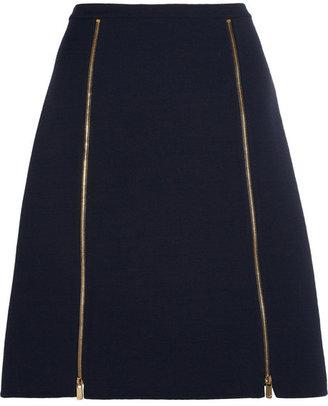 Michael Kors Wool-blend A-line skirt