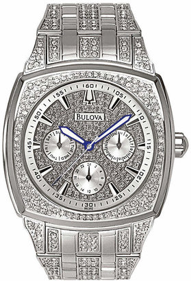 Bulova Mens Crystal-Accent Watch