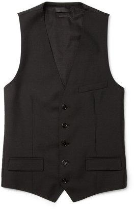 Alexander McQueen Black Wool and Mohair-Blend Waistcoat