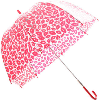 Fulton Lulu Guiness Bubble Umbrella with Red Lips
