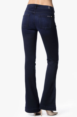 7 For All Mankind Slim Trouser In Blue Black Sateen