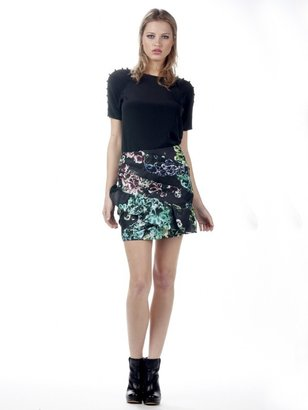 Twelfth St. By Cynthia Vincent By Cynthia Vincent Asymmetrical Pleated Ruffle Skirt