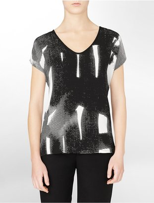 Calvin Klein Printed Drop Shoulder Short Sleeve Shirt