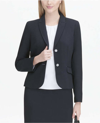 Calvin Klein Flap-Pocket Two-Button Blazer