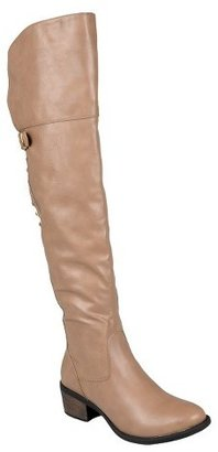 Journee Collection Womens Bamboo By Journee Tall Studded Buckle Detail Boots - Assorted Colors